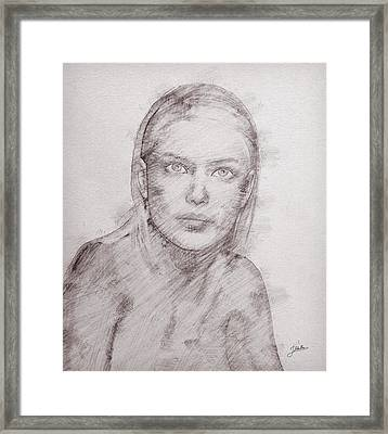 The Beautiful Margot Framed Print by Joaquin Abella