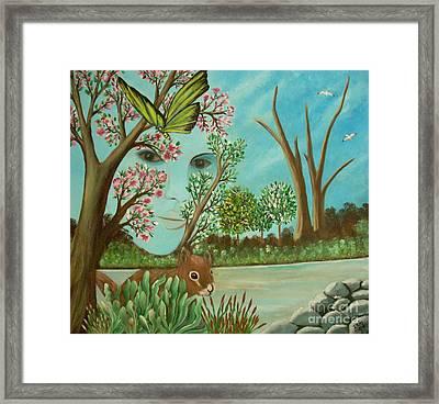 The Beautiful Nature Framed Print by Iris  Mora