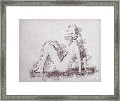 The Beautiful Odette Framed Print