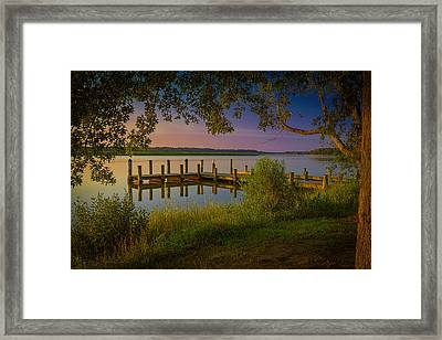 Framed Print featuring the photograph The Beautiful Patuxent by Cindy Lark Hartman