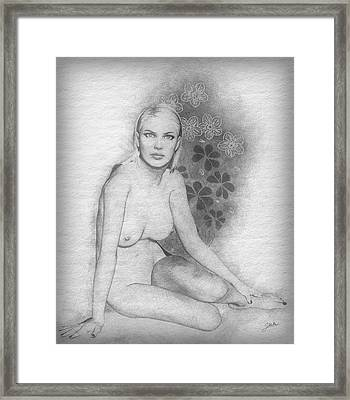 The Beautiful Sarita Framed Print