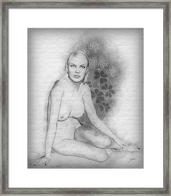 The Beautiful Sarita Framed Print by Joaquin Abella