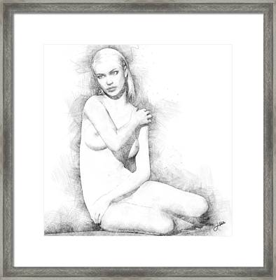 The Beautiful Shy Framed Print by Joaquin Abella