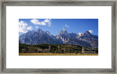 The Beautiful Teton Range Framed Print