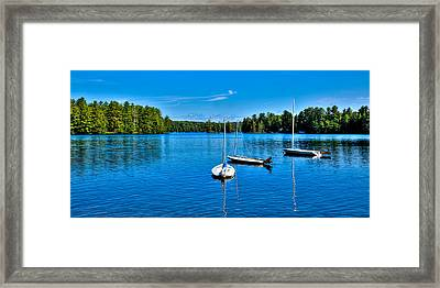 The Beautiful White Lake In New York Framed Print by David Patterson