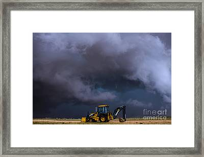 The Beauty And The Deere Framed Print