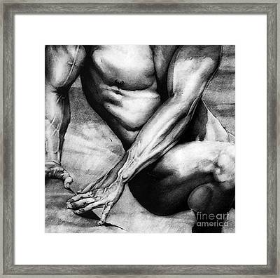 The Beauty Of A Nude Man Framed Print