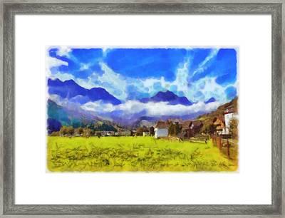 The Beauty Of A Swiss Landscape Framed Print