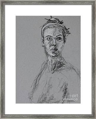 The Beauty Of A Woman Framed Print