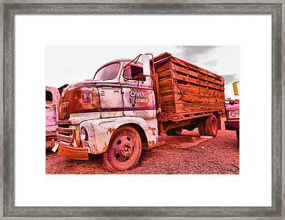 Framed Print featuring the photograph The Beauty Of An Old Truck by Jeff Swan