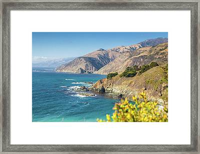 The Beauty Of Big Sur Framed Print by JR Photography