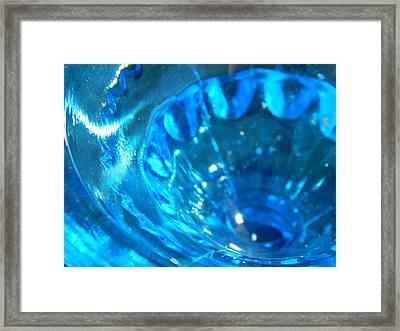 The Beauty Of Blue Glass Framed Print