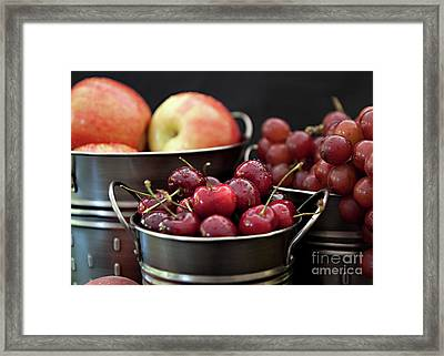 The Beauty Of Fresh Fruit Framed Print by Sherry Hallemeier