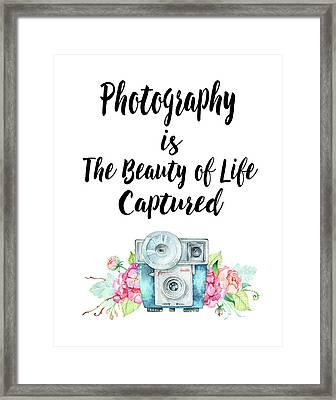 The Beauty Of Life Framed Print by Colleen Taylor