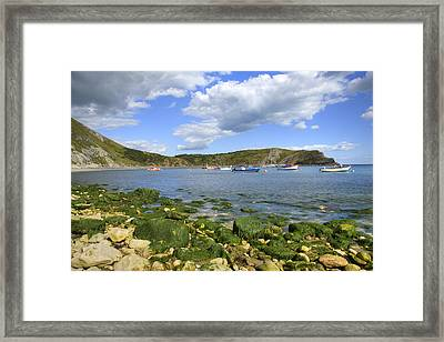 Framed Print featuring the photograph The Beauty Of Lulworth Cove by Ian Middleton