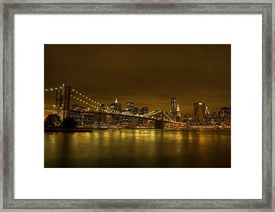 The Beauty Of Manhattan Framed Print