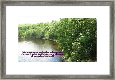 The Beauty Of Nature Framed Print by John Lavernoich