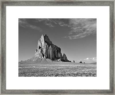 The Beauty Of Shiprock Framed Print