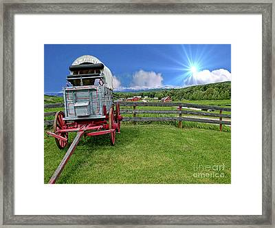 The Beauty Of The Bar U Ranch Framed Print