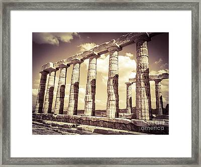 The Beauty Of The Temple Of Poseidon Framed Print