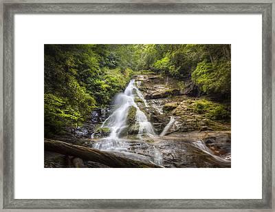 The Beauty Of Waterfalls Framed Print by Debra and Dave Vanderlaan