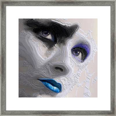 The Beauty Regime Blue Framed Print by ISAW Gallery