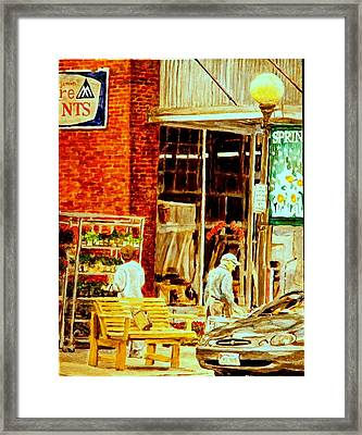 The Bed Planters Framed Print by Thomas Akers