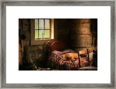 The Bed Warmer Framed Print by Lori Deiter