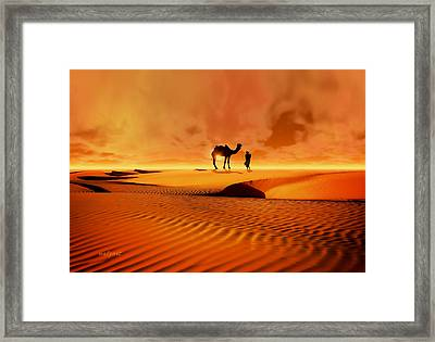 Framed Print featuring the photograph The Bedouin by Valerie Anne Kelly