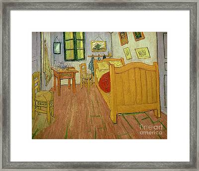 The Bedroom Framed Print by Vincent van Gogh