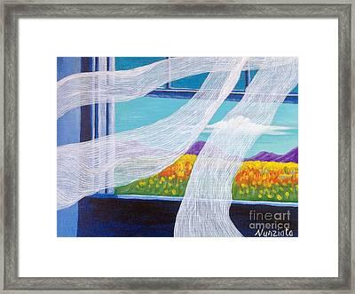 The Bedroom Window Framed Print by Nancy McNamer