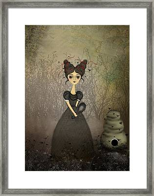 The Bee Keeper Framed Print by Charlene Zatloukal