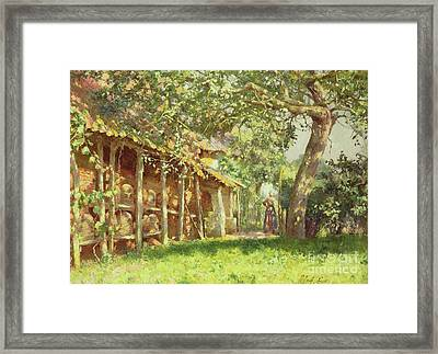 The Bee Keeper Framed Print by Emile Claus