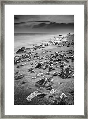 The Beggining Of The Night Mono Framed Print by Guido Montanes Castillo