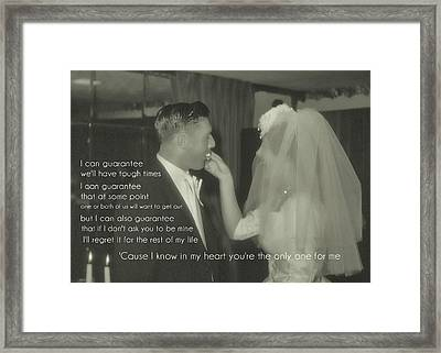 The Beginning Quote Framed Print by JAMART Photography