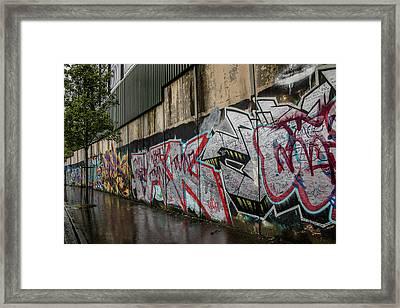 The Belfast Peace Wall Framed Print