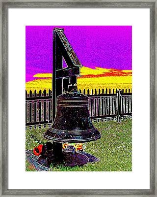The Bell At Pemaquid Point Framed Print by Cliff Wilson