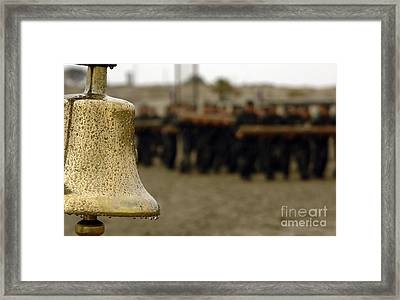 The Bell Is Present On The Beach Framed Print