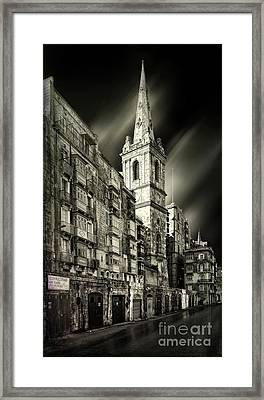 The Bell Tower Of A Church In Valletta Framed Print by Stephan Grixti