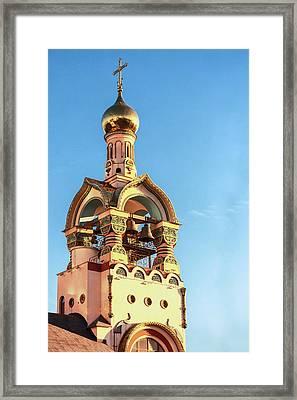 The Bell Tower Of The Temple Of Grand Duke Vladimir Framed Print