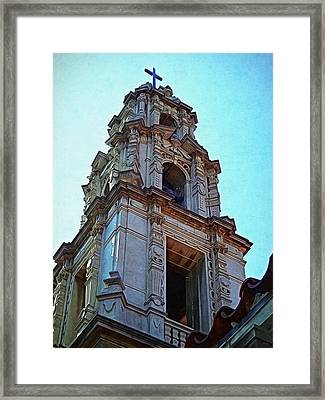 The Bell Tower - Riverside California Framed Print by Glenn McCarthy Art and Photography