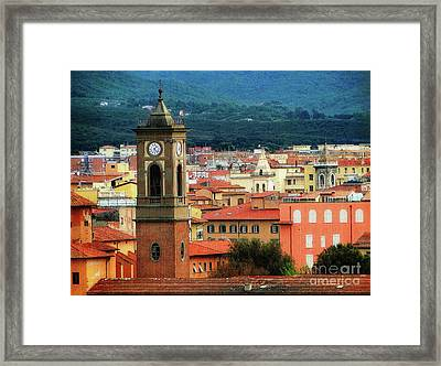 The Bell Tower Framed Print by Sue Melvin