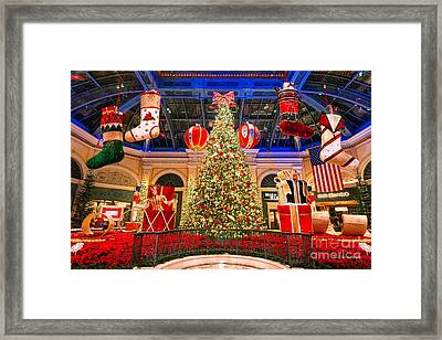 The Bellagio Christmas Tree 2015 Framed Print
