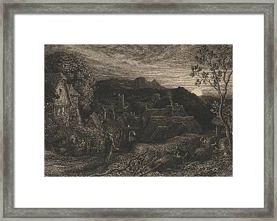 The Bellman Framed Print by Samuel Palmer