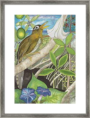 The Bells Of Puuiki Framed Print by Laura Mango
