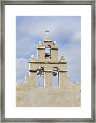 Framed Print featuring the photograph The Bells Of San Juan by Mary Jo Allen