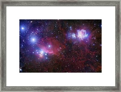 The Belt Stars Of Orion Framed Print by Robert Gendler