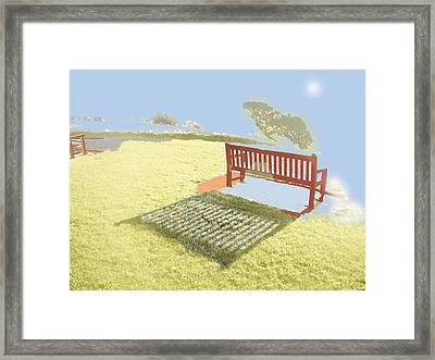 The Bench At The Edge Of The World Framed Print by Dan McCarthy