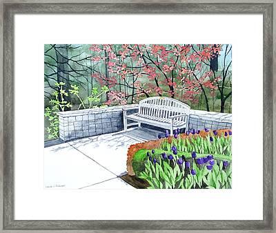 The Bench Awaits - Mill Creek Park Framed Print