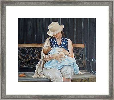 The Bench Framed Print by Daniela Easter